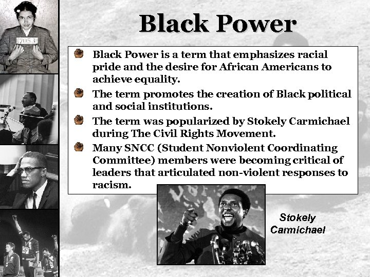 the tactical mobilization of resources to promote racial equality in the civil rights movement Resource-mobilization theory emphasizes the importance of resources in social movement development and success resources are understood here to include: knowledge, money, media, labor, solidarity, legitimacy, and internal and external support from power elite.
