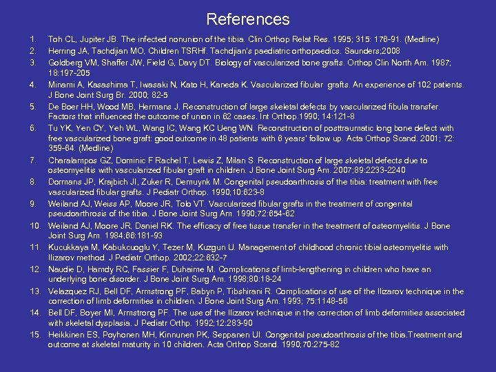References 1. 2. 3. 4. 5. 6. 7. 8. 9. 10. 11. 12. 13.