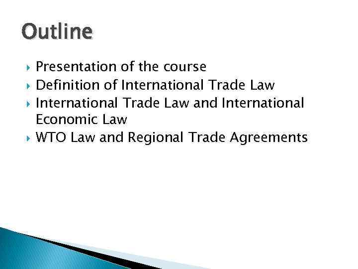 Wto Law Fernando Pirola Presentation Basic Aspects 27