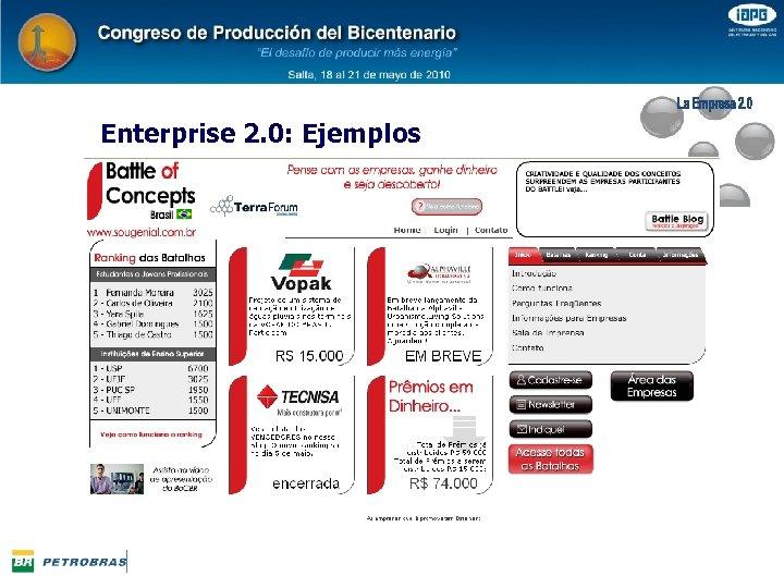 Enterprise 2. 0: Ejemplos
