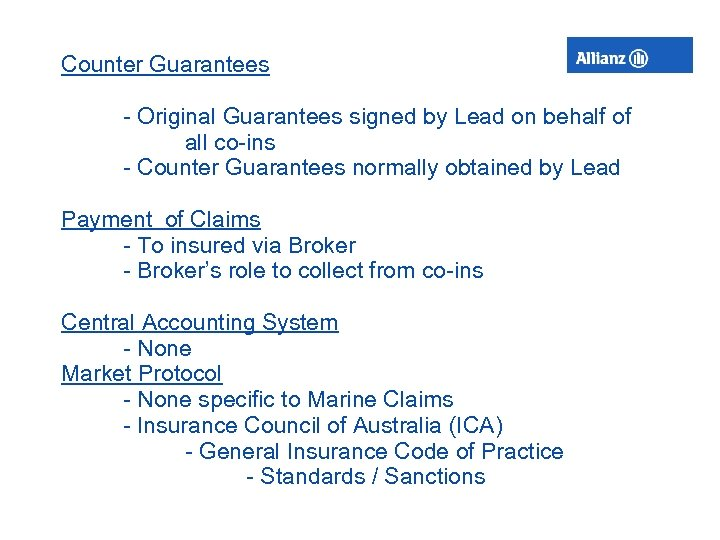 Counter Guarantees - Original Guarantees signed by Lead on behalf of all co-ins -