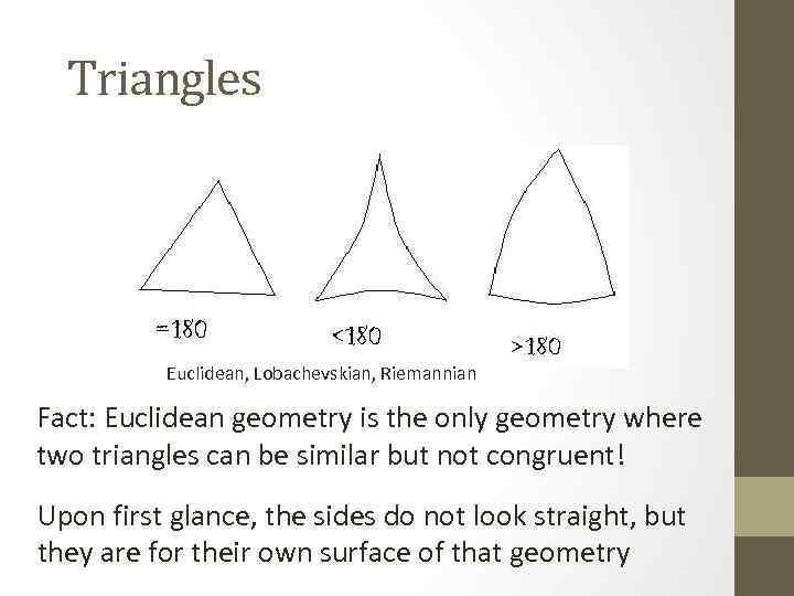 a discussion of euclidean geometry Non-euclidean geometry to us because we are so used to the theorems of the geometry we were taught since from this discussion we see.