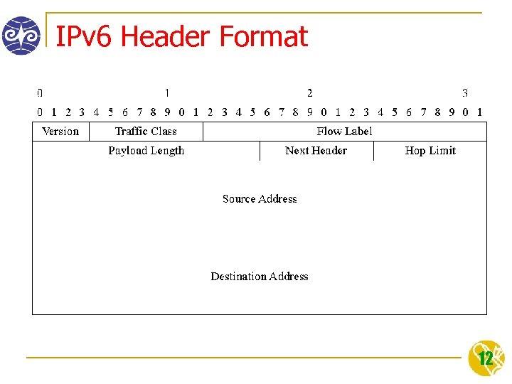 IPv 6 Header Format 12