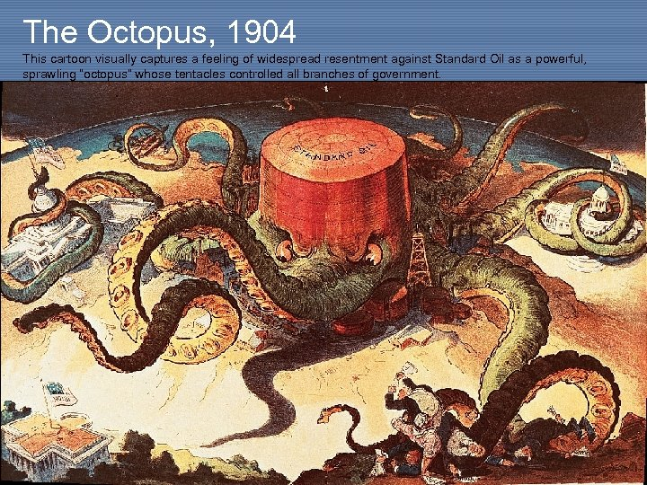 The Octopus, 1904 This cartoon visually captures a feeling of widespread resentment against Standard