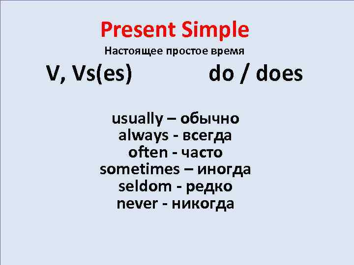 presentsimple Perfect English Grammar