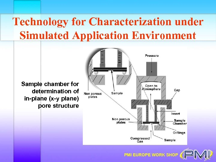 Technology for Characterization under Simulated Application Environment Sample chamber for determination of in-plane (x-y