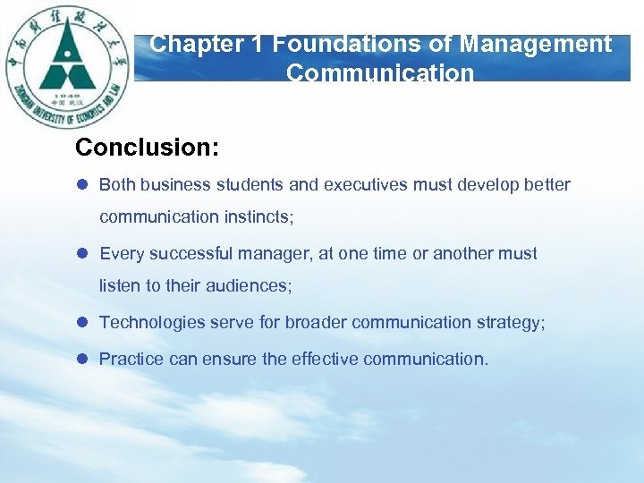 conclusion of effective communication