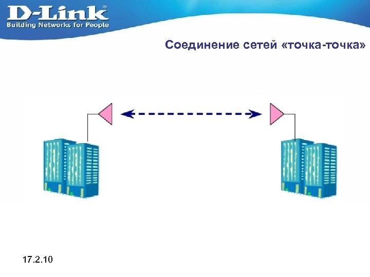 Соединение сетей «точка-точка» 17. 2. 10