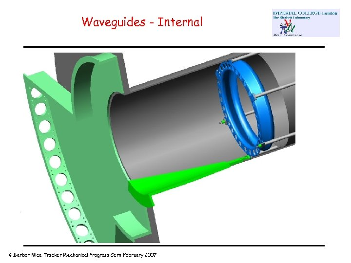 Waveguides - Internal G. Barber Mice Tracker Mechanical Progress Cern February 2007