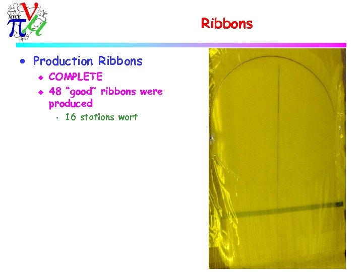 """Ribbons · Production Ribbons u u COMPLETE 48 """"good"""" ribbons were produced s 16"""