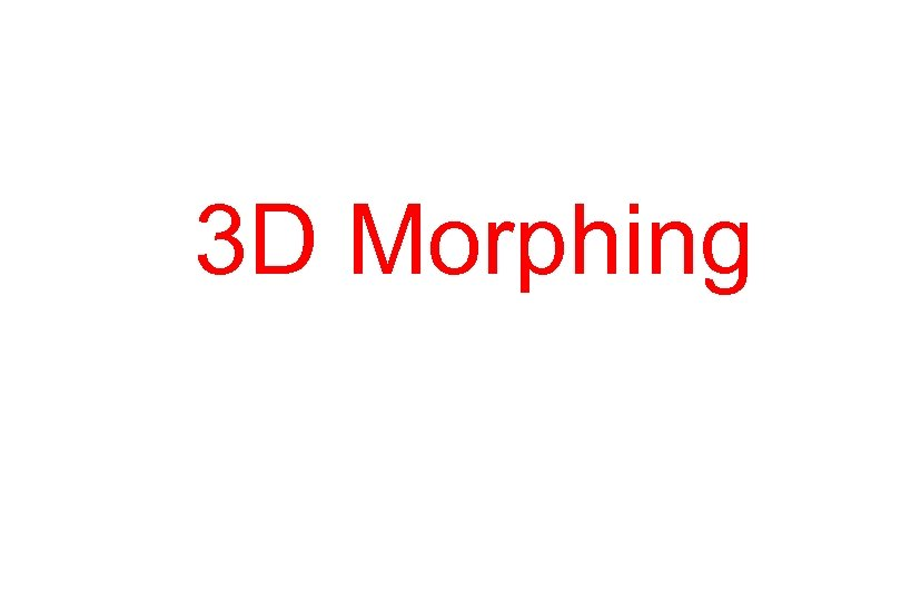 3 D Morphing