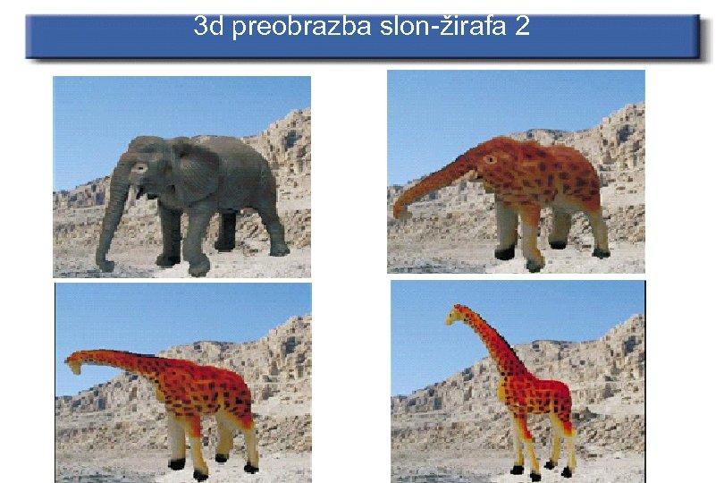 3 d preobrazba slon-žirafa 2