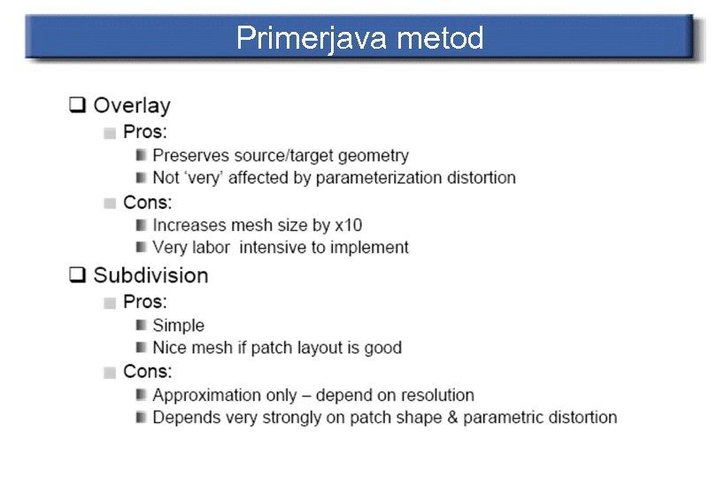 Primerjava metod