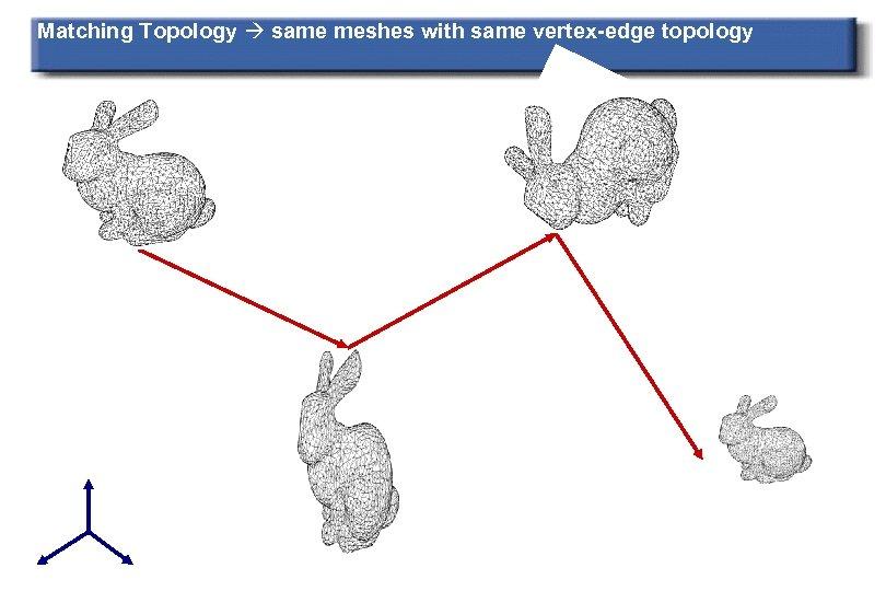 Matching Topology same meshes with same vertex-edge topology