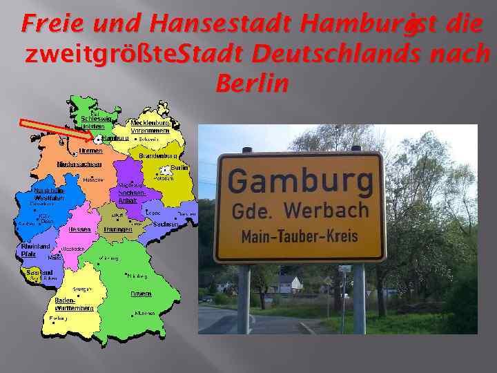 Freie und Hansestadt Hamburg die ist zweitgrößte. Stadt Deutschlands nach Berlin