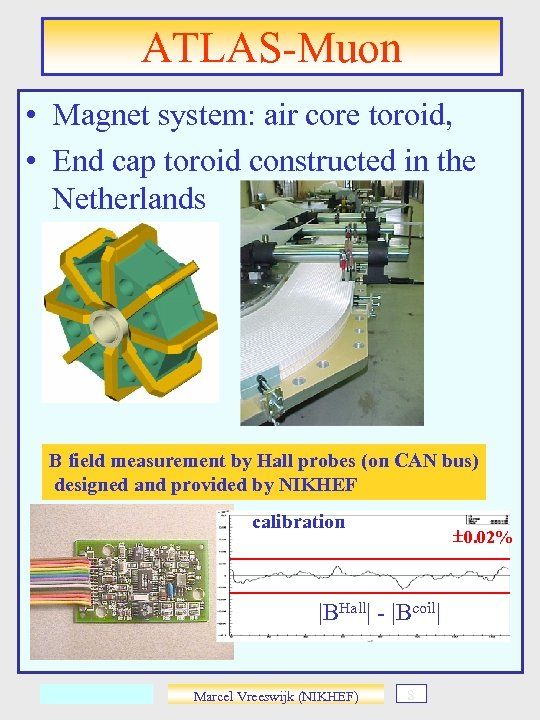 ATLAS-Muon • Magnet system: air core toroid, • End cap toroid constructed in the