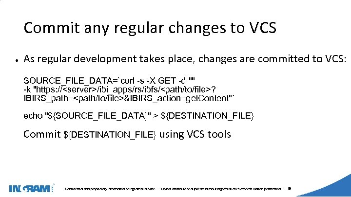 1405002 Commit any regular changes to VCS ● As regular development takes place, changes