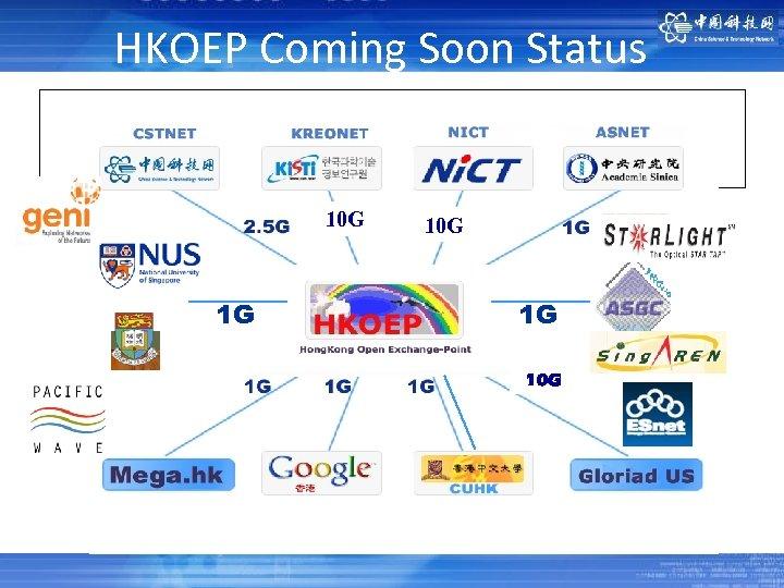 单击此处编辑母版标题样式 HKOEP Coming Soon Status 10 G 1 G 1 G 10 G