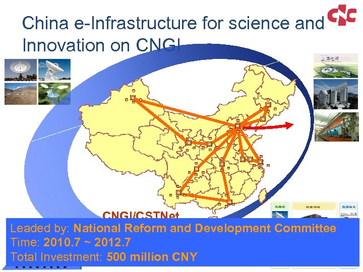 China e-Infrastructure for science and Innovation on CNGI/CSTNet Leaded by: National Reform and Development