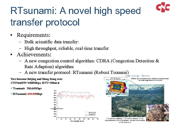 RTsunami: A novel high speed transfer protocol • Requirements: – Bulk scientific data transfer: