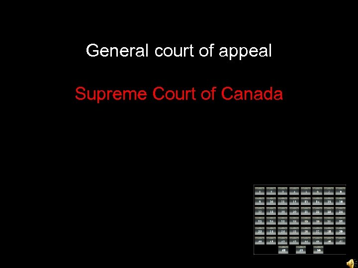 General court of appeal Supreme Court of Canada