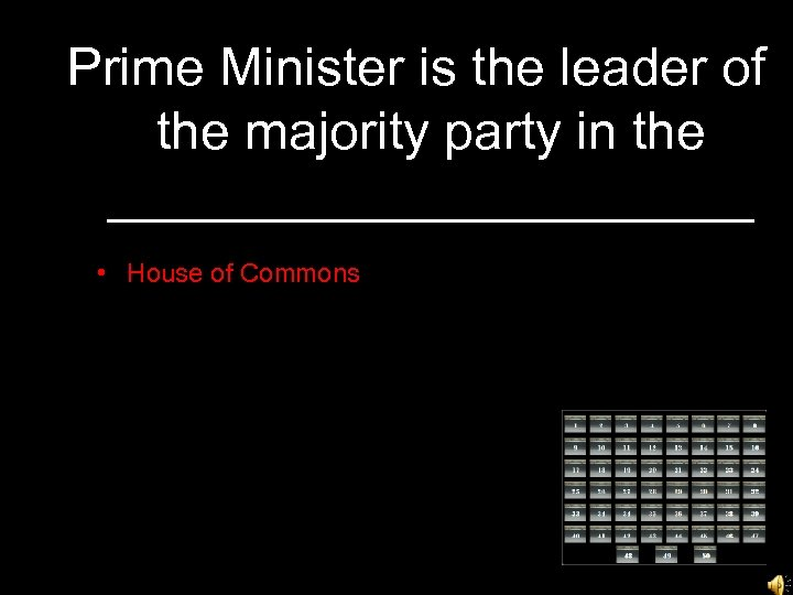 Prime Minister is the leader of the majority party in the ___________ • House