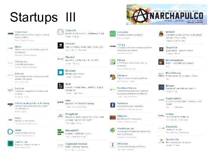 Startups III