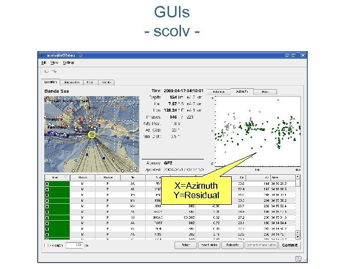 GUIs - scolv - X=Azimuth Y=Residual