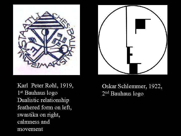 16 -01 Karl Peter Røhl, 1919, 1 st Bauhaus logo Dualistic relationship feathered form