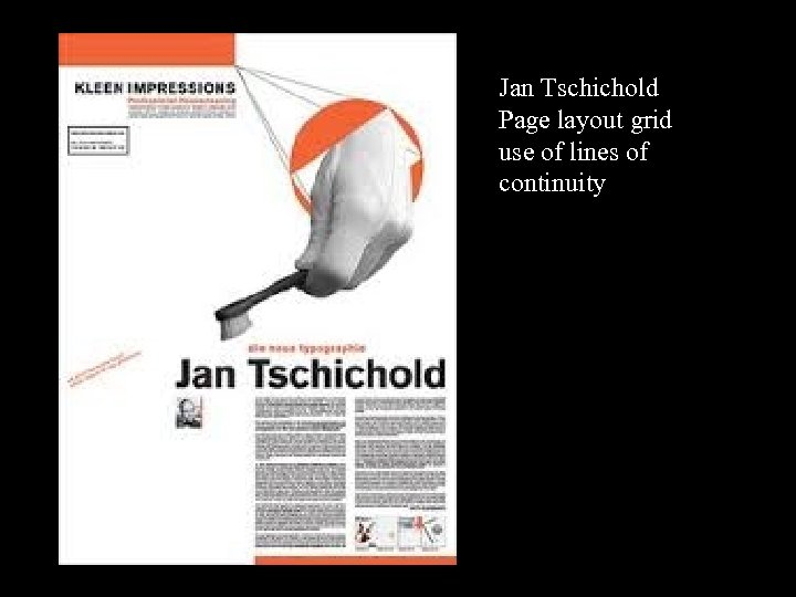 16 -17 Jan Tschichold Page layout grid use of lines of continuity