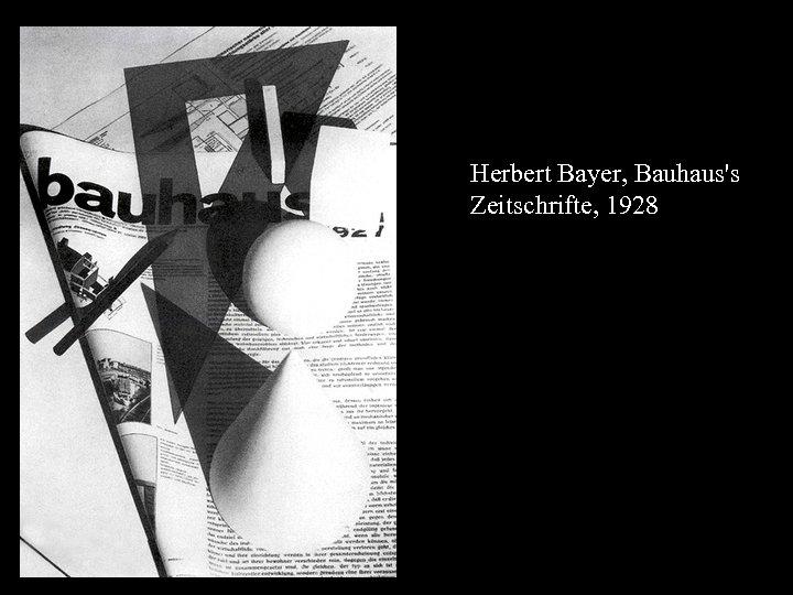 16 -17 Herbert Bayer, Bauhaus's Zeitschrifte, 1928