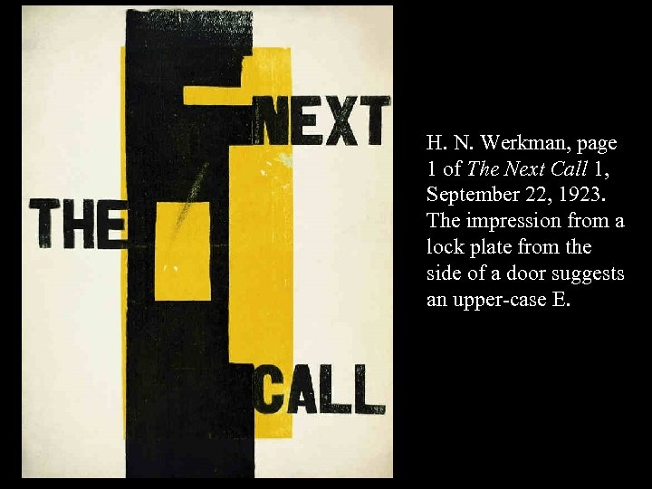 16 -52 H. N. Werkman, page 1 of The Next Call 1, September 22,