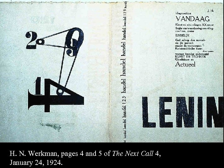 16 -54 H. N. Werkman, pages 4 and 5 of The Next Call 4,