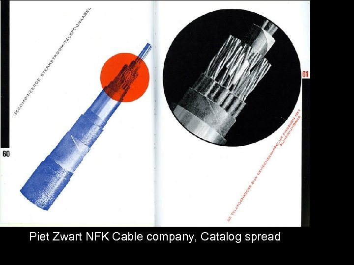 Piet Zwart NFK Cable company, Catalog spread