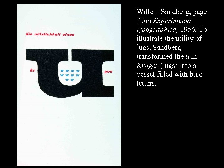 16 -57 Willem Sandberg, page from Experimenta typographica, 1956. To illustrate the utility of