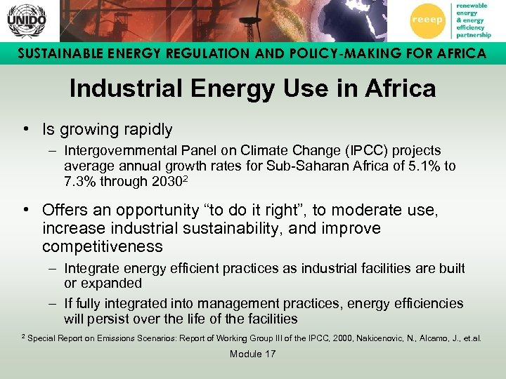 SUSTAINABLE ENERGY REGULATION AND POLICY-MAKING FOR AFRICA Industrial Energy Use in Africa • Is