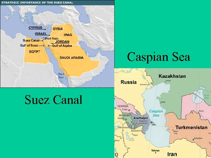 Caspian Sea Suez Canal