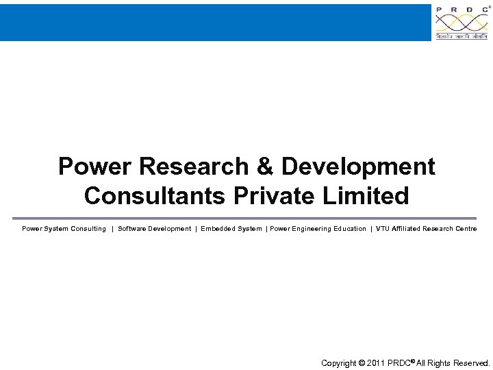 Power Research & Development Consultants Private Limited Power System Consulting | Software Development |