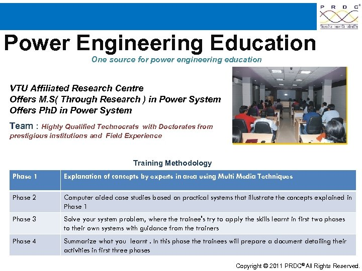 Power Engineering Education One source for power engineering education VTU Affiliated Research Centre Offers