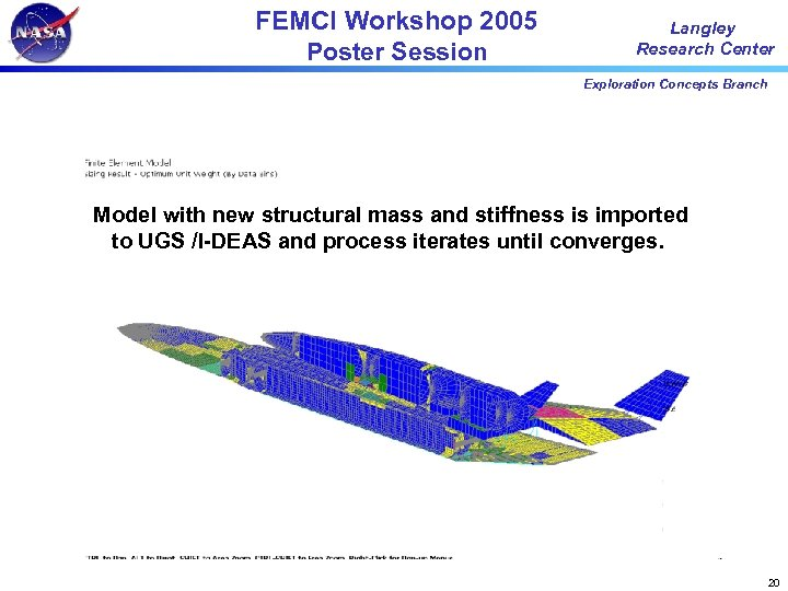 FEMCI Workshop 2005 Poster Session Langley Research Center Exploration Concepts Branch Model with new