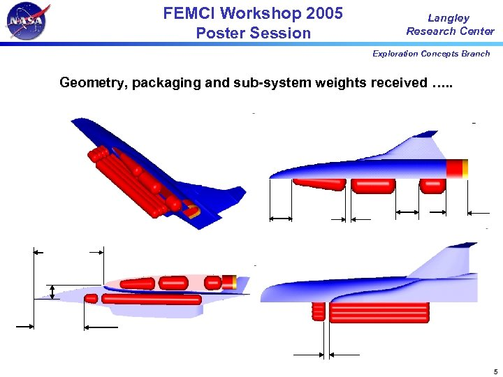 FEMCI Workshop 2005 Poster Session Langley Research Center Exploration Concepts Branch Geometry, packaging and
