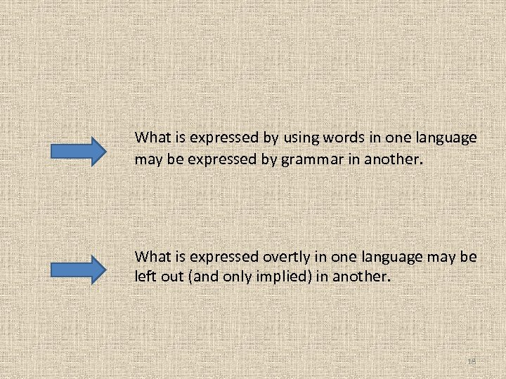 What is expressed by using words in one language may be expressed by