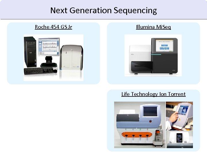 Next Generation Sequencing Roche 454 GS Jr Illumina Mi. Seq Life Technology Ion Torrent
