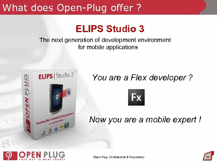 What does Open-Plug offer ? ELIPS Studio 3 The next generation of development environment