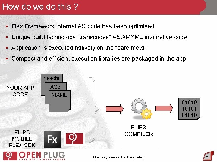 How do we do this ? § Flex Framework internal AS code has been
