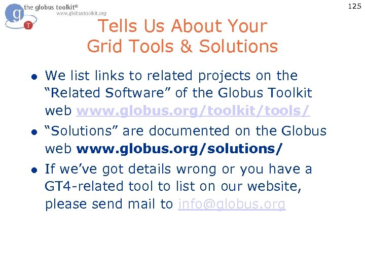 125 Tells Us About Your Grid Tools & Solutions l We list links to