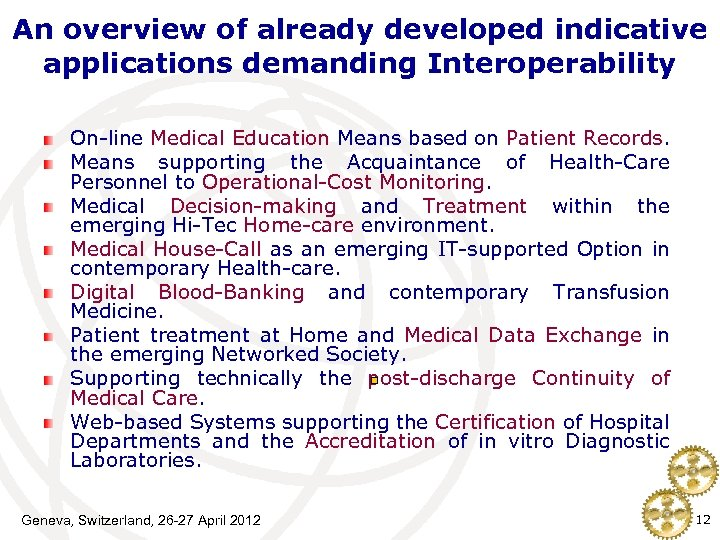 An overview of already developed indicative applications demanding Interoperability On-line Medical Education Means based