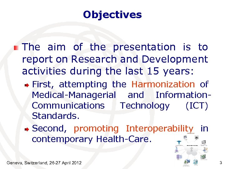 Objectives The aim of the presentation is to report on Research and Development activities