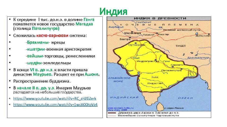 Индия • К середине I тыс. до. н. э. в долине Ганга появляется новое