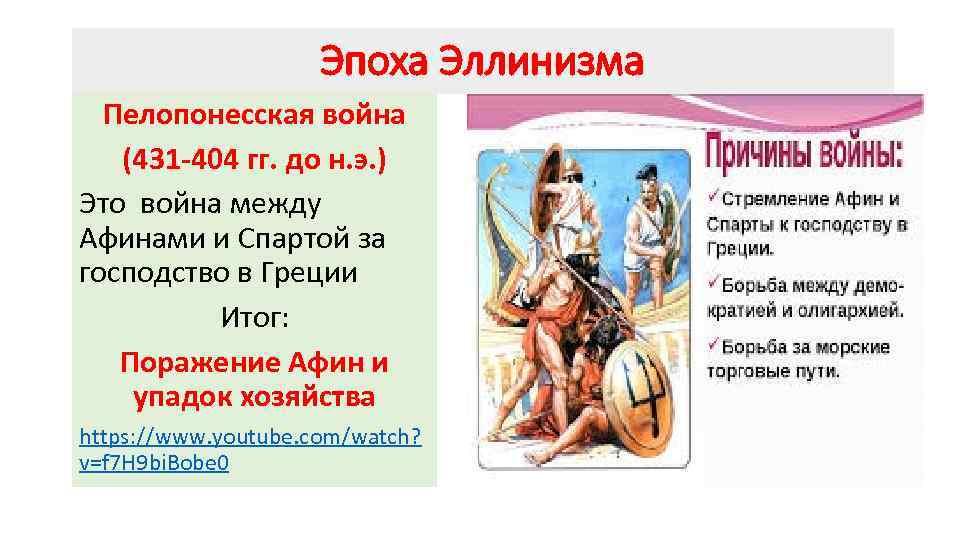 Эпоха Эллинизма Пелопонесская война (431 -404 гг. до н. э. ) Это война между